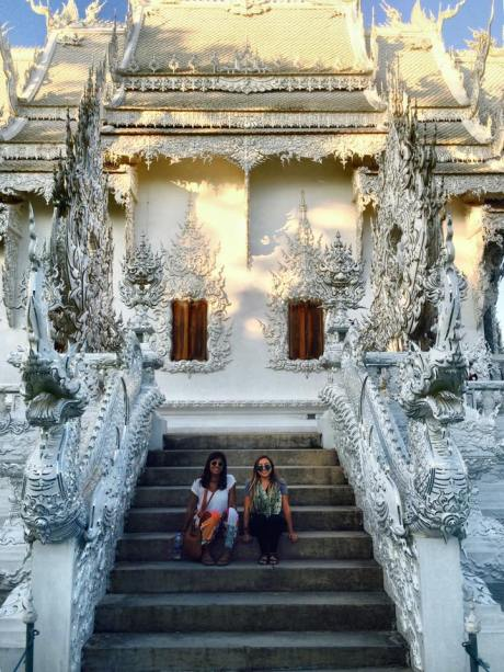 Ale and I in November 2014: our first visit to Chiang Rai and the stunning Wat Rong Khun.